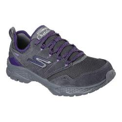 Women's Skechers GOwalk Outdoors Trail Shoe Charcoal/Purple
