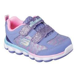 Girls' Skechers Lil Jumpers Two Strap Sneaker Lavender/Pink