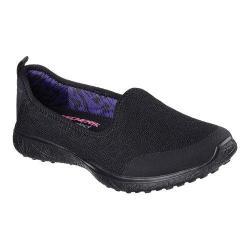 Women's Skechers Microburst It's My Life Slip On Sneaker Black
