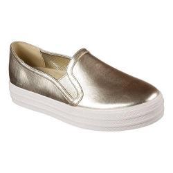 Women's Skechers OG 97 Double Up Metallic Moovez Slip On Sneaker Gold