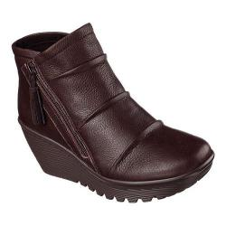 Women's Skechers Parallel Double Trouble Wedge Bootie Chocolate