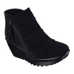 Women's Skechers Parallel Triple Threat Wedge Bootie Black