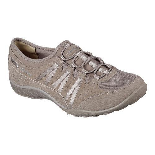 d649e34524bf Shop Women s Skechers Relaxed Fit Breathe Easy Moneybags Slip On Sneaker  Taupe - Free Shipping Today - Overstock - 12690283