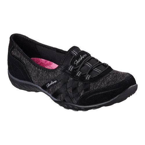 Skechers Breathe Easy Newsie Walking Shoes For Women Black