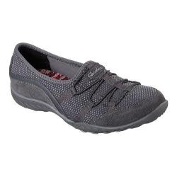 Women's Skechers Relaxed Fit Breathe Easy Blithe Bungee Lace Shoe Charcoal