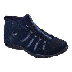 Women's Skechers Relaxed Fit Breathe Easy Established High Top Navy