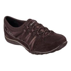 Women's Skechers Relaxed Fit Breathe Easy Moneybags Slip On Sneaker Chocolate