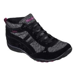 Women's Skechers Relaxed Fit Breathe Easy Shout Out High Top Black