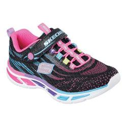 Girls' Skechers S Lights Litebeams Bungee Lace Sneaker Black/Multi
