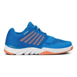 Women's K-Swiss X Court Brilliant Blue/Living Coral/White