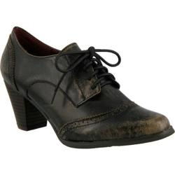 Women's L'Artiste by Spring Step Ennia Lace Up Oxford Charcoal Leather