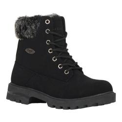 Women's Lugz Empire HI Fur Work Boot Black/Black/Charcoal Durabrush