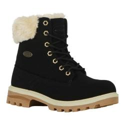 Women's Lugz Empire HI Fur Work Boot Black/Cream/Gum Durabrush