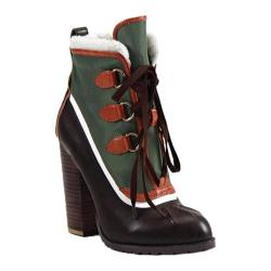 Women's Luichiny Alpine Snow Bootie Dark Brown/Army Imi Leather