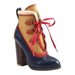 Women's Luichiny Alpine Snow Bootie Navy/Mustard Leather