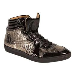 Men's Mezlan Elisio High Top Black/Gold Calf