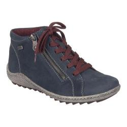 Women's Remonte Liv R1470 High Top Sneaker Pazifik/Pazifik Leather