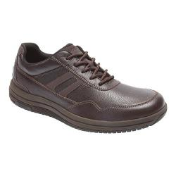Men's Rockport Power Pace U-Bal Lace Up Shoe Dark Bitter Chocolate Leather