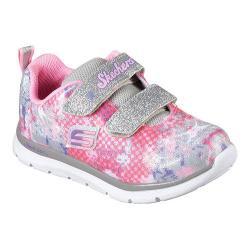 Girls' Skechers Skech-Lite Flexies Two Strap Sneaker Silver/Multi