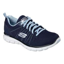 Women's Skechers Synergy Look Book Walking Shoe Navy/Light Blue