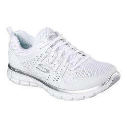 Women's Skechers Synergy Look Book Walking Shoe White/Silver