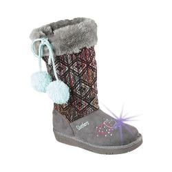 Girls' Skechers Twinkle Toes Glamslam Lil Lovelies Boot Charcoal