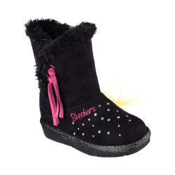 Girls' Skechers Twinkle Toes Glamslam Tassle Tootsies Boot Black