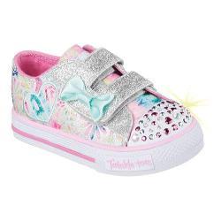 Girls' Skechers Twinkle Toes Shuffles Baby Love Sneaker Pink/Multi