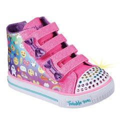 Girls' Skechers Twinkle Toes Shuffles Baby Talk High Top Multi