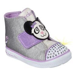 Girls' Skechers Twinkle Toes Twinkle Breeze Glitter N Critters Silver/Lavender