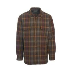 Men's Woolrich Bering Wool Plaid Shirt Dark Walnut