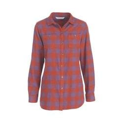 Women's Woolrich Buffalo Check Boyfriend Shirt Red Rock Check