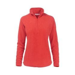 Women's Woolrich Colwin Fleece Half-Zip Pullover Dark Guava