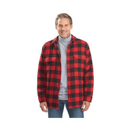 a82c666c9 Shop Men's Woolrich Oxbow Bend Plaid Flannel Shirt Jacket Old Red Buffalo -  Free Shipping Today - Overstock - 12699281
