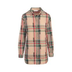 Women's Woolrich First Light Jacquard Shirt Warm Taupe