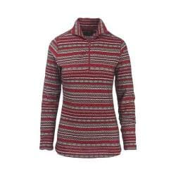 Women's Woolrich Mile Run Half Zip Knit Scarlet