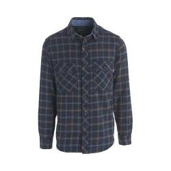 Men's Woolrich Miners Wash Flannel Shirt Deep Indigo Plaid