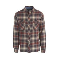 Men's Woolrich Miners Wash Flannel Shirt Red Wood