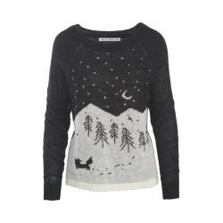 Women's Woolrich Motif Mohair Sweater Black-