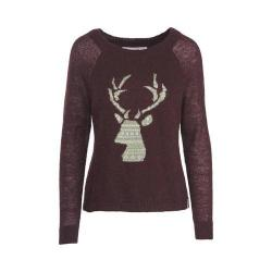 Women's Woolrich Motif Mohair Sweater Burgundy