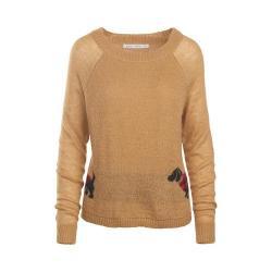 Women's Woolrich Motif Mohair Sweater Camel