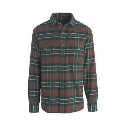 Men's Woolrich Oxbow Bend Flannel Shirt Olive Plaid
