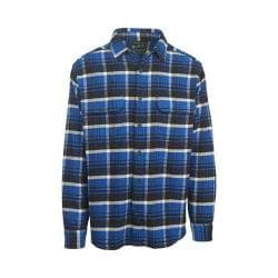Men's Woolrich Oxbow Bend Flannel Shirt Dark Cobalt