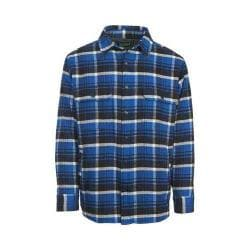 Men's Woolrich Oxbow Bend Plaid Flannel Shirt Jacket Dark Cobalt