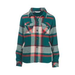 Women's Woolrich Oxbow Bend Shirt Jacket Dark Teal Plaid