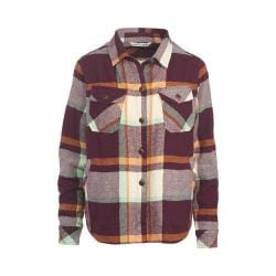 Women's Woolrich Oxbow Bend Shirt Jacket Wine Plaid