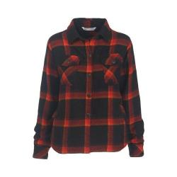 Women's Woolrich Oxbow Bend Shirt Jacket Black Plaid