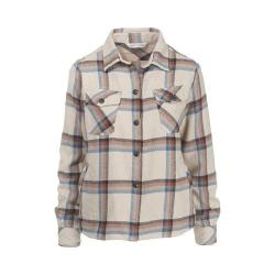 Women's Woolrich Oxbow Bend Shirt Jacket Silver Gray Plaid