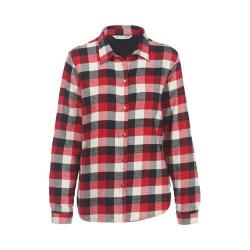 Women's Woolrich Pemberton Fleece-Lined Flannel Shirt Jacket Old Red Buffalo