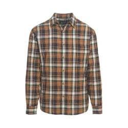 Men's Woolrich Red Creek Long Sleeve Shirt Dark Walnut